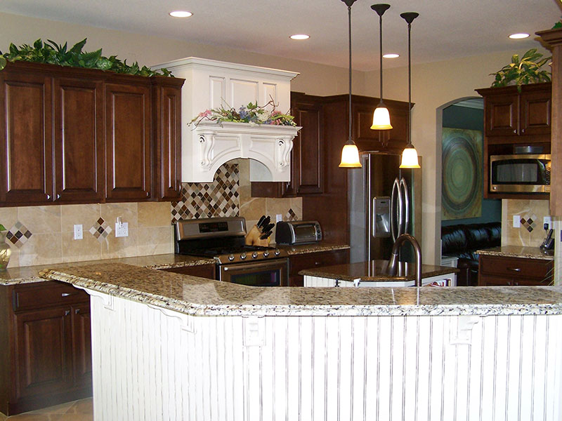 This kitchen remodel fits the owner's style and needs.