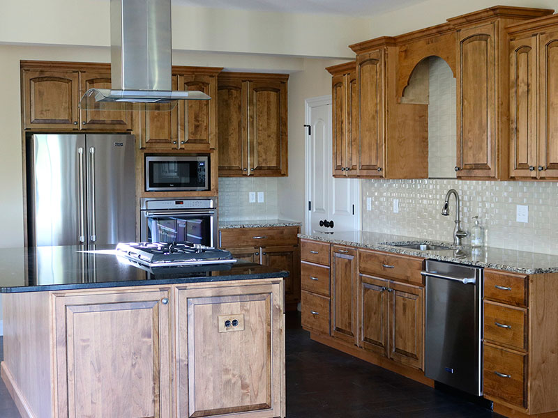 This kitchen was remodeled by File Construction.