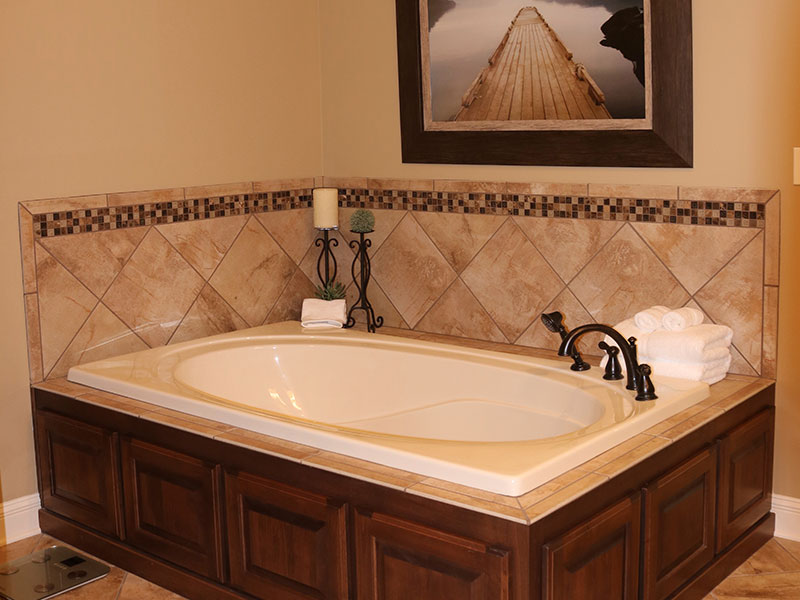 This bath was customized to the owner's liking.