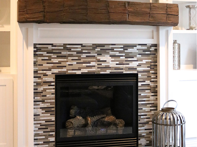 This indoor fireplace was installed by the experts at File Construction.
