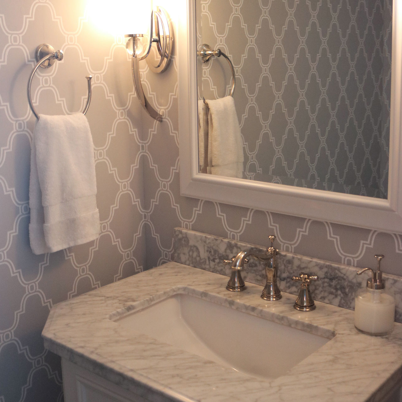 This bathroom was built according to the vision of our client.
