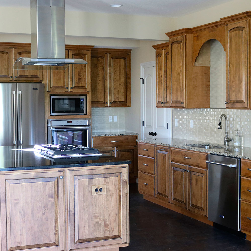 This kitchen was remodeled to fit the needs of the client.