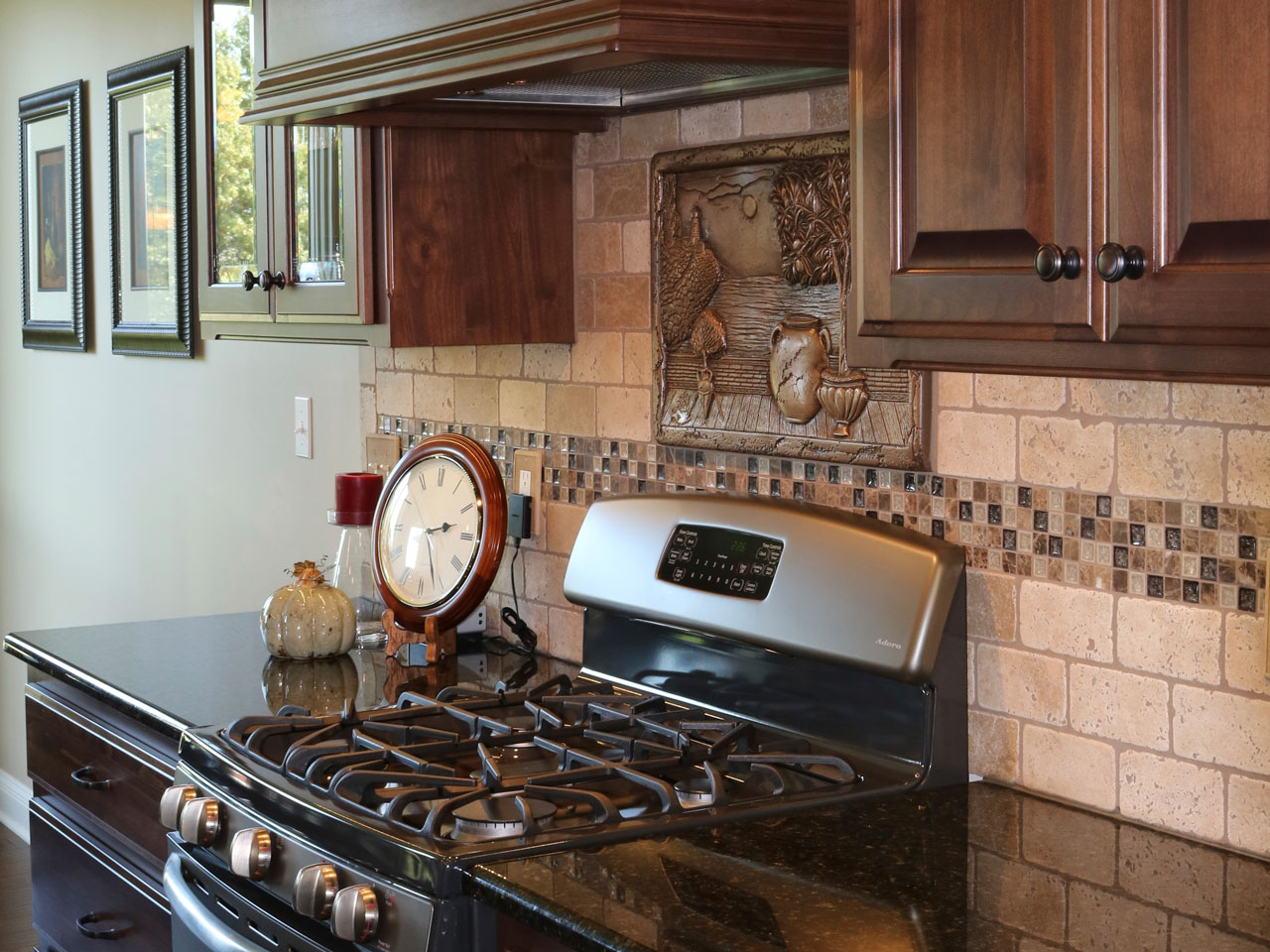 Here are some custom countertops in a remodeled kitchen.